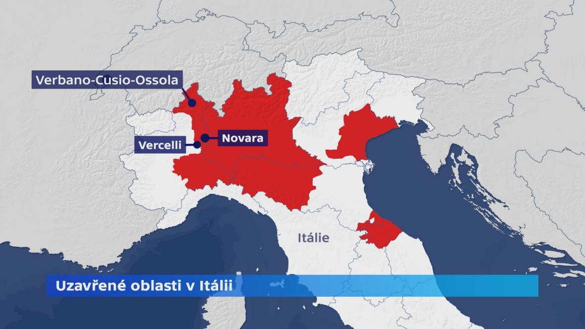 Uzavřené oblasti v Itálii