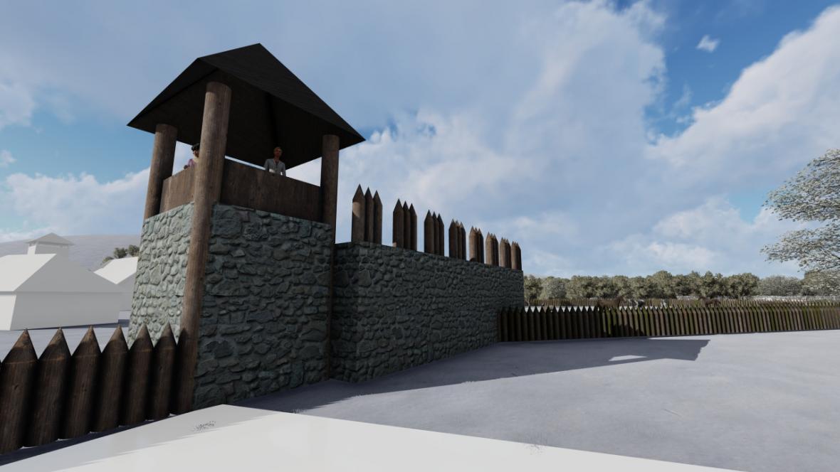 Součástí opevnění bude i šestimetrová věž