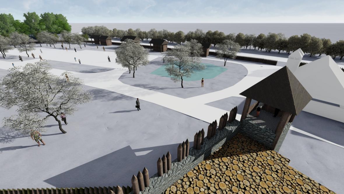 Věž nabídne návštěvníkům výhled do archeoskanzenu