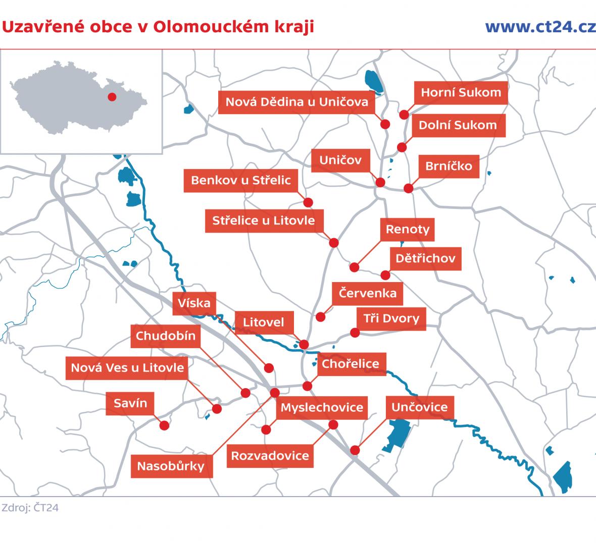 Uzavřené obce v ČR