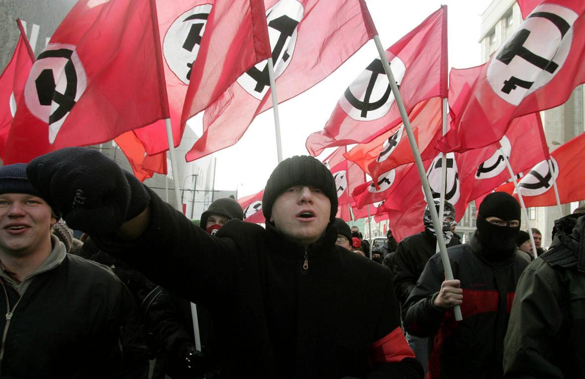 Demonstrace Národních bolševiků v roce 2005