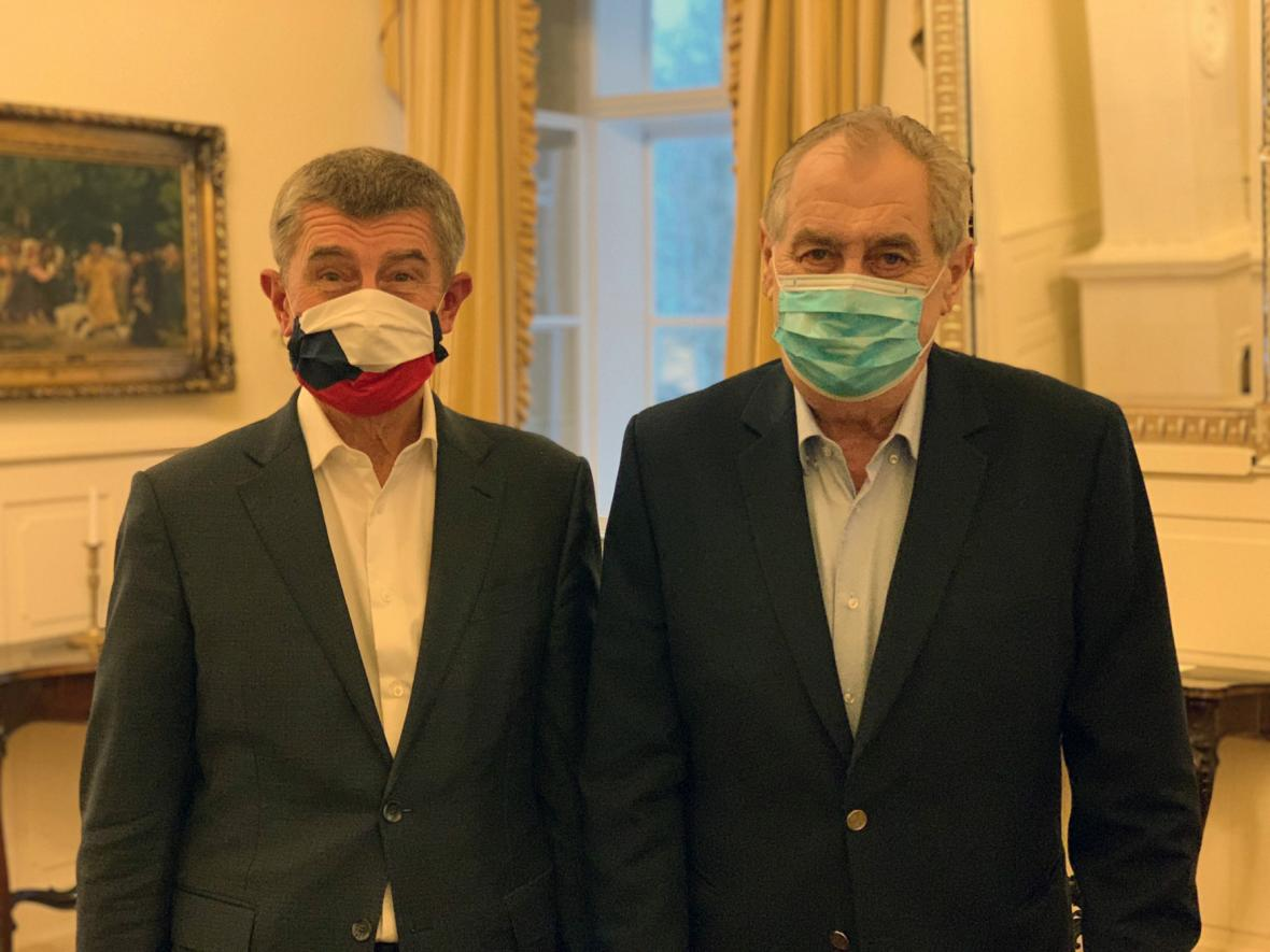 Andrej Babiš a Miloš Zeman