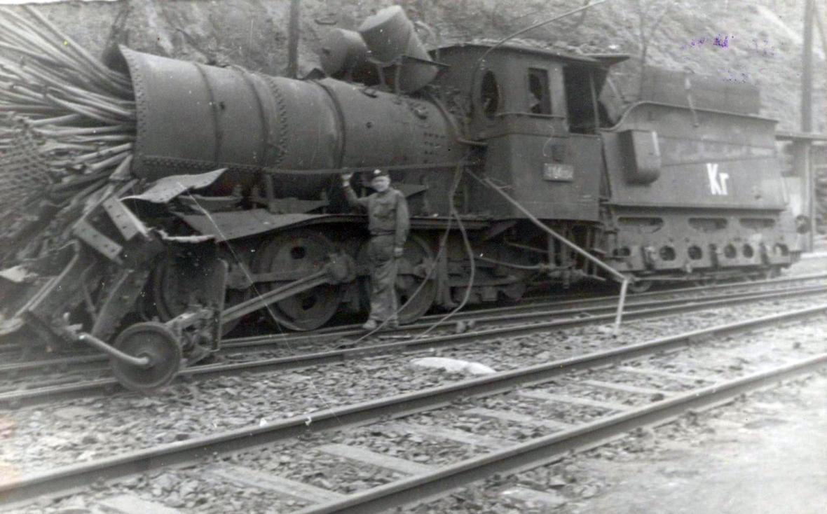 Zničená lokomotiva