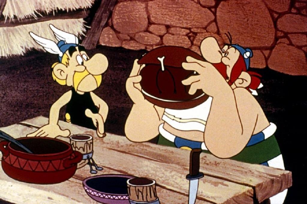 Komiksoví hrdinové Asterix a Obelix