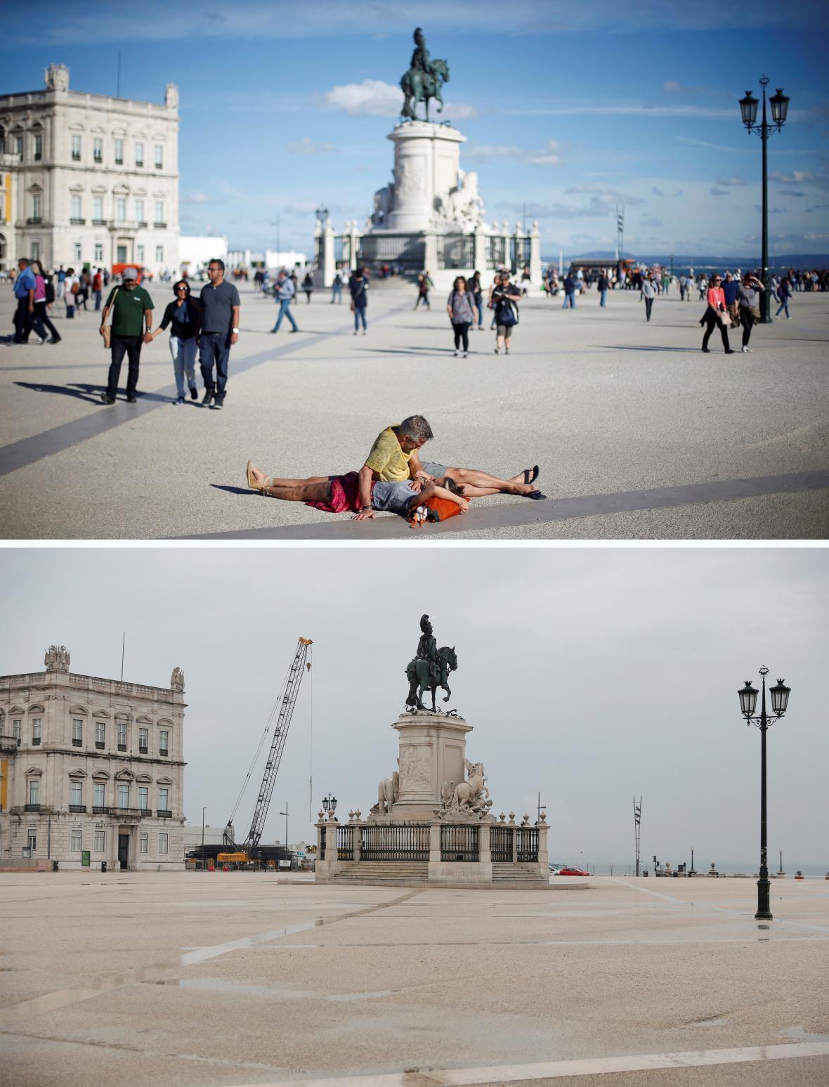 Karanténa vylidnila centrum Lisabonu