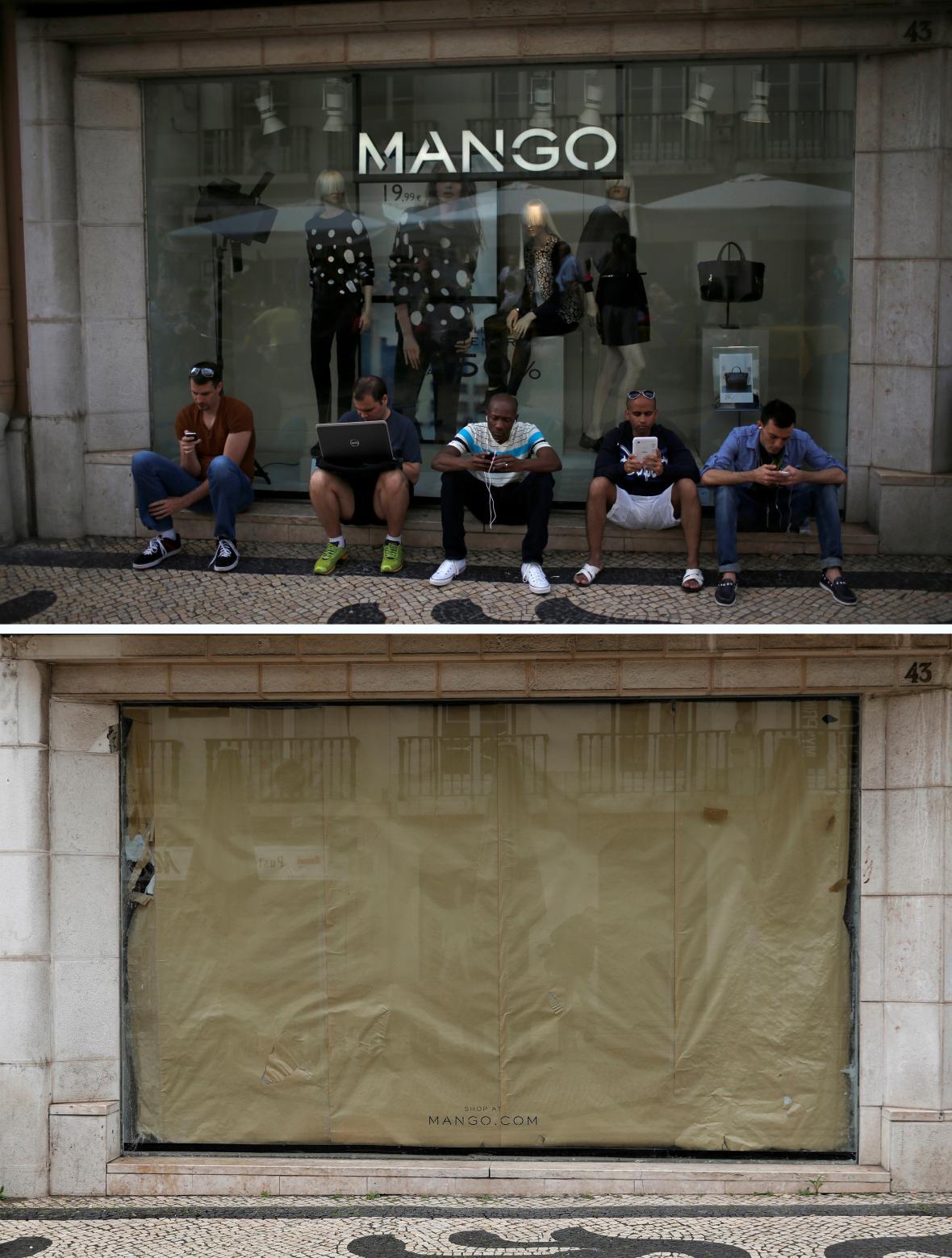 Kvůli obavám z nákazy se uzavřely obchody po celém světě včetně portugalské metropole