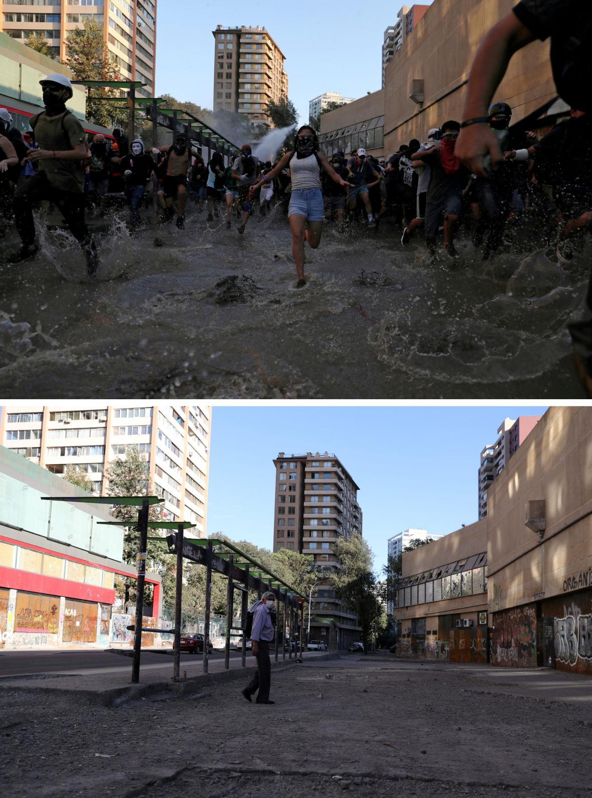 Ještě počátkem března Chilané demonstrovali v hojném počtu, teď protesty utichají