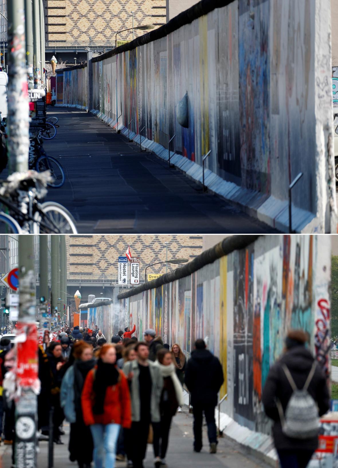 Osamocená berlínská zeď