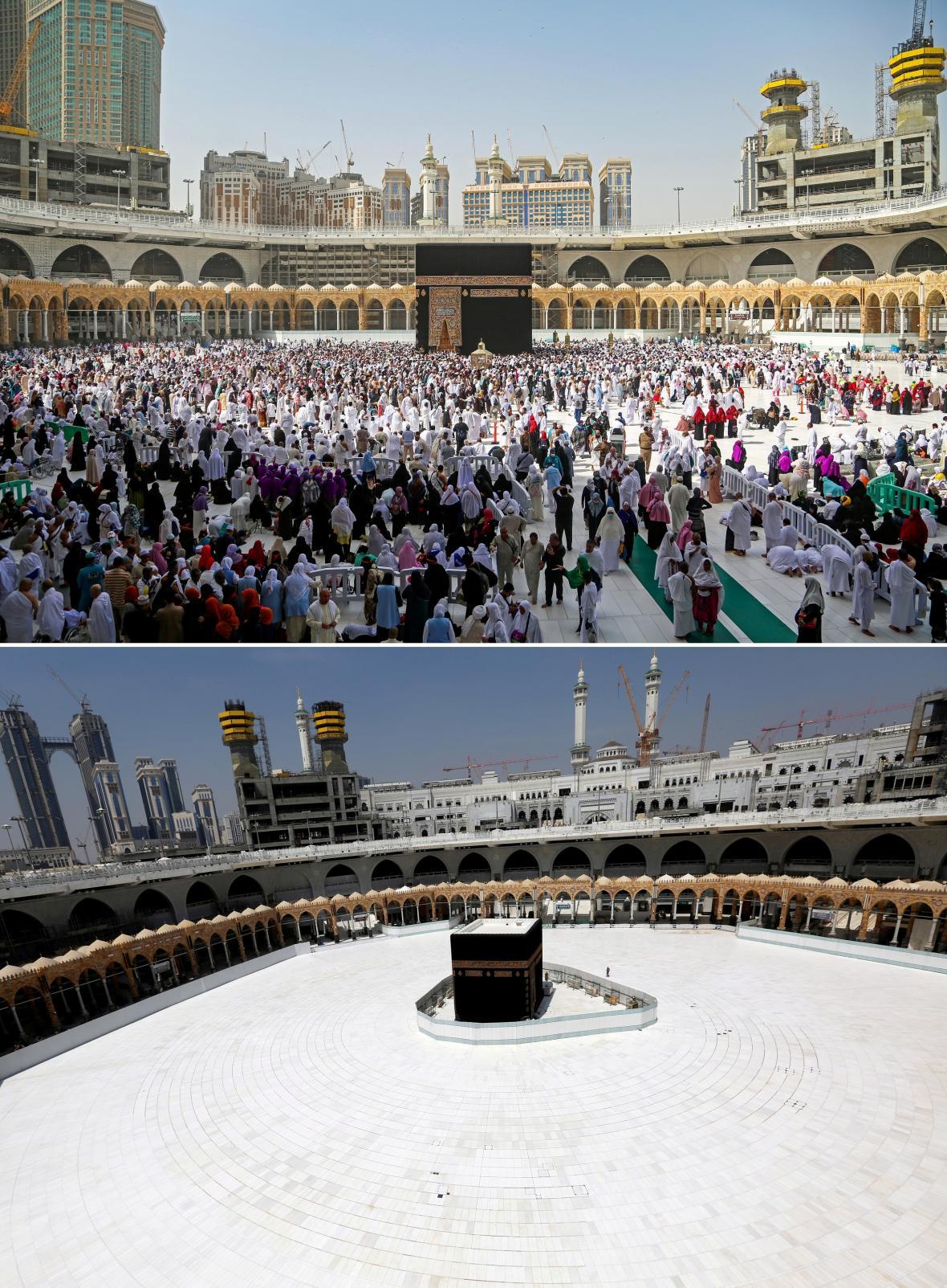 Muslimský svět se modlí v soukromí, vylidněná je i Mekka