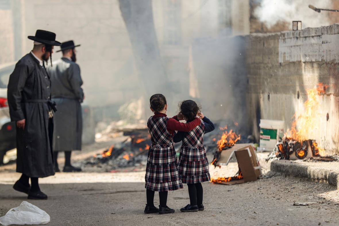 Ultraortodoxní židé v Jeruzalémě