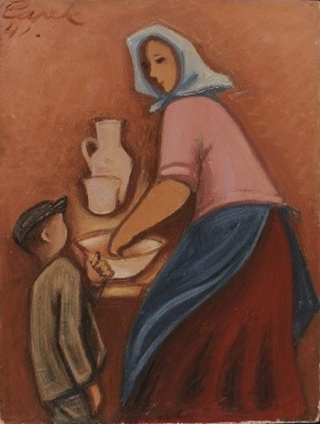 Josef Čapek: Žena s dítětem
