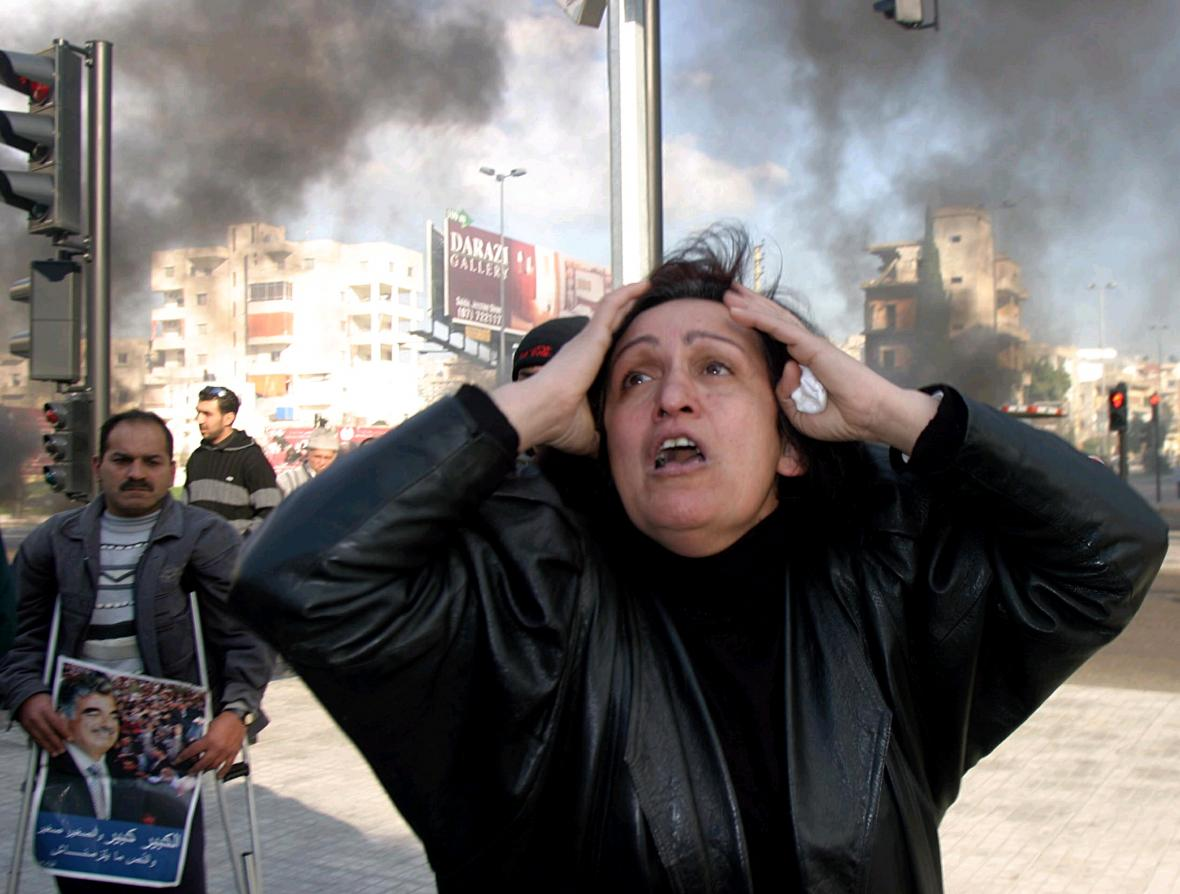 Po vraždě premiéra Rafíka Harírího vypukly v Libanonu nepokoje