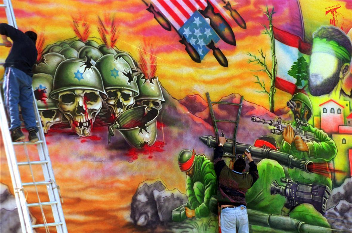 Boj s Izraelem znázorněný v roce 2000 šíitským hnutím Hizballáh