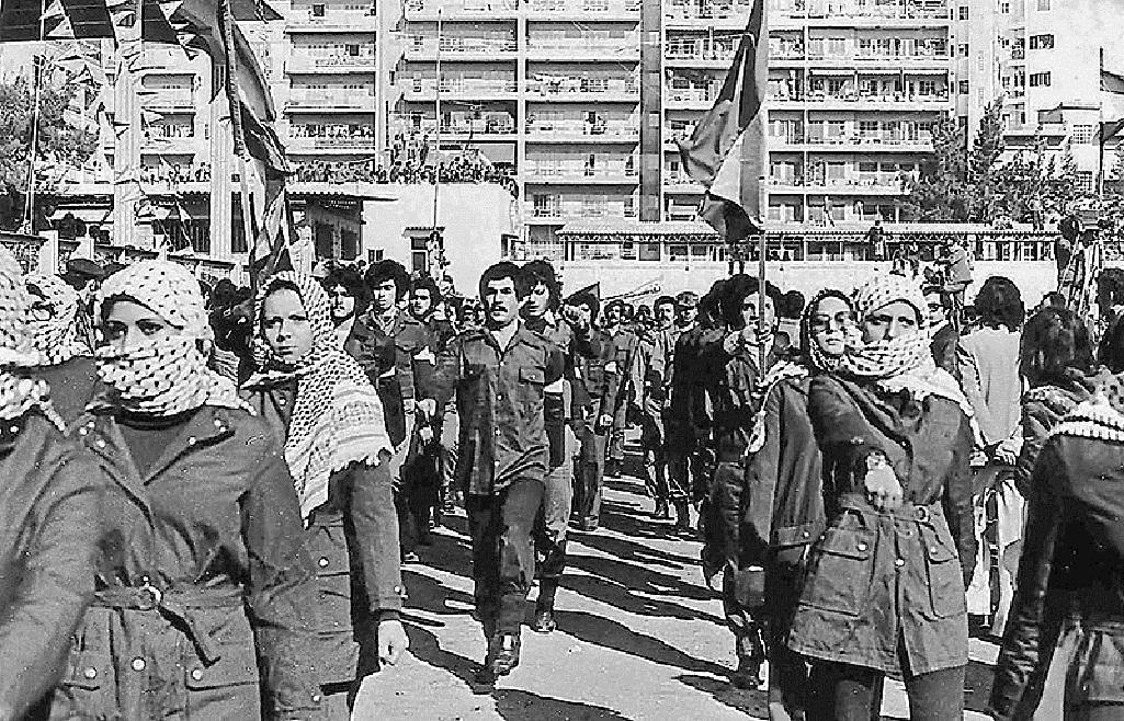Milice Fatahu v Bejrútu v roce 1979