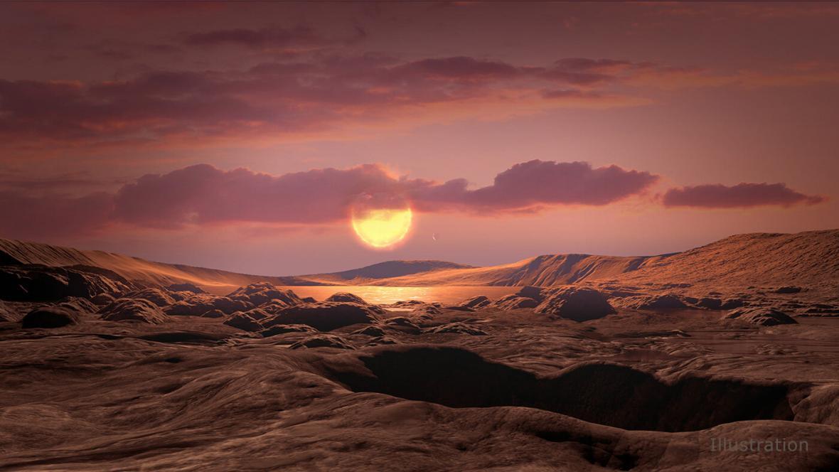 Vizualizace povrchu nově objevené planety