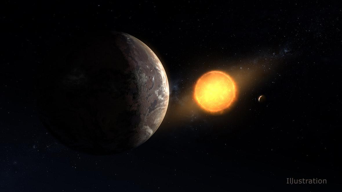 Vizualizace nově objevené planety