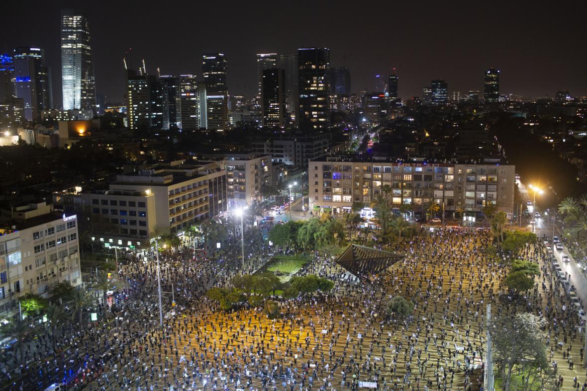Protest v Izraeli v době koronaviru