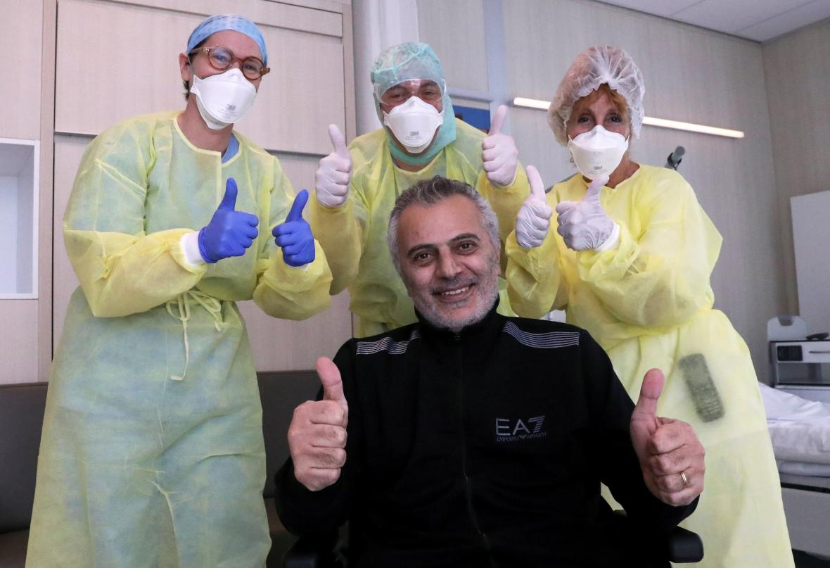 Antoine Sassine opouští nemocnici