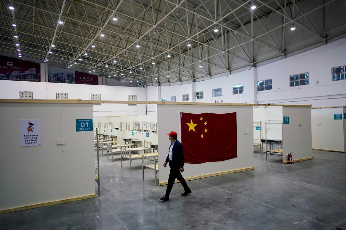 Kongresové centrum ve Wu-chanu, které bylo využíváno jako nemocnice pro pacienty s koronavirem