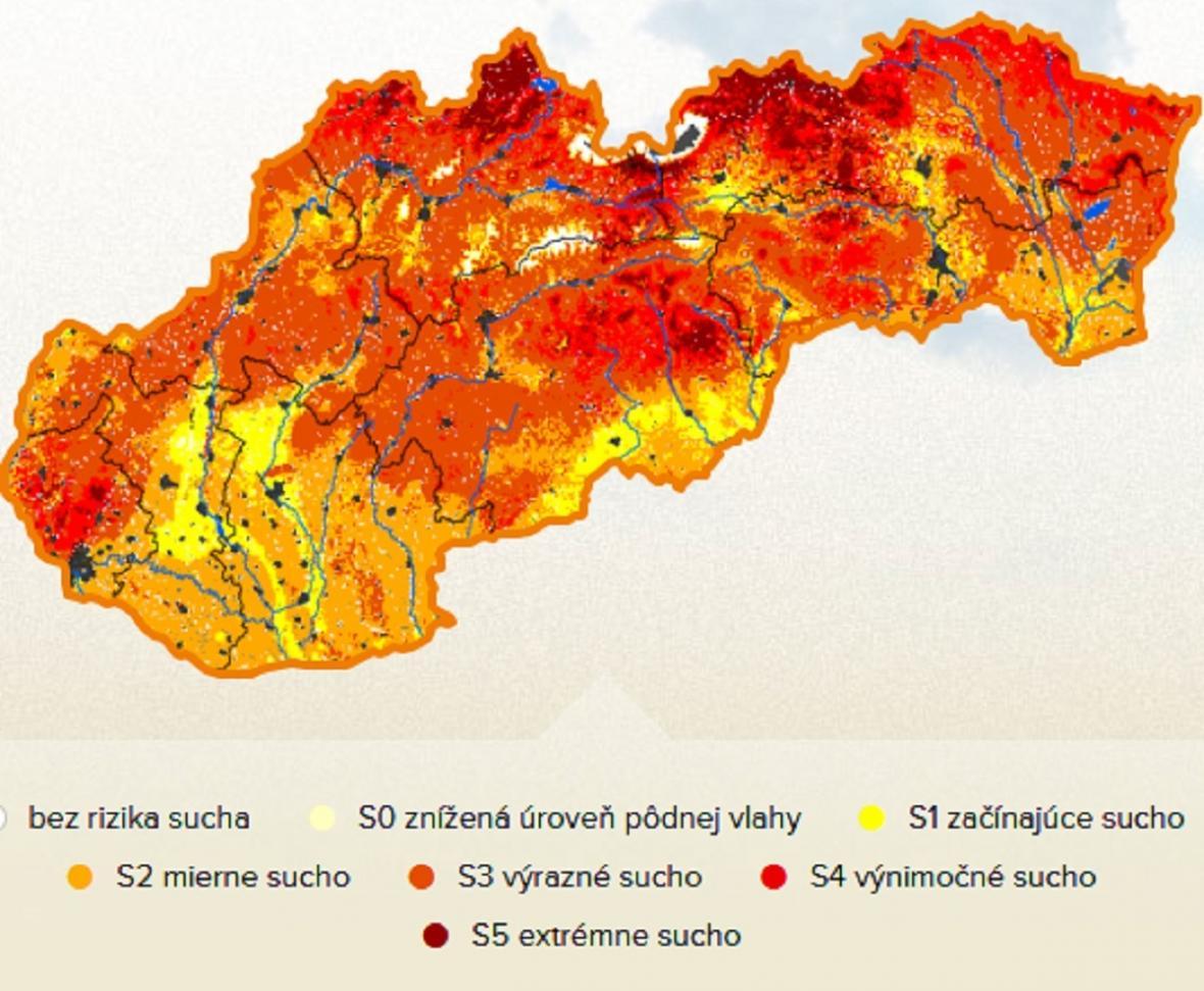 Intenzita sucha na Slovensku