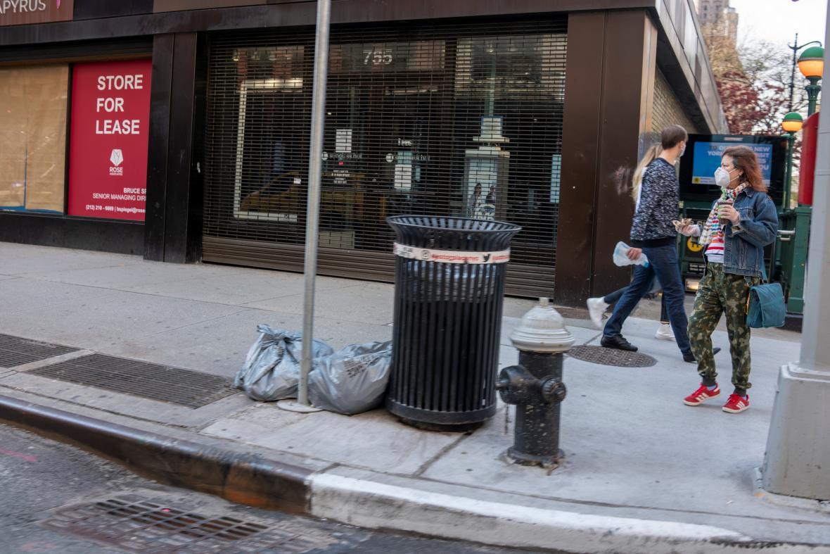 Zavřené obchody na Manhattanu