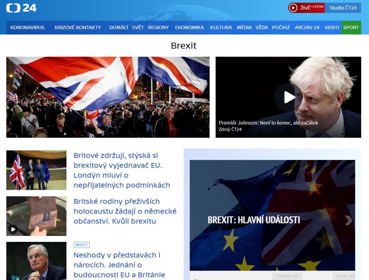 Brexitový speciál na webu ČT24