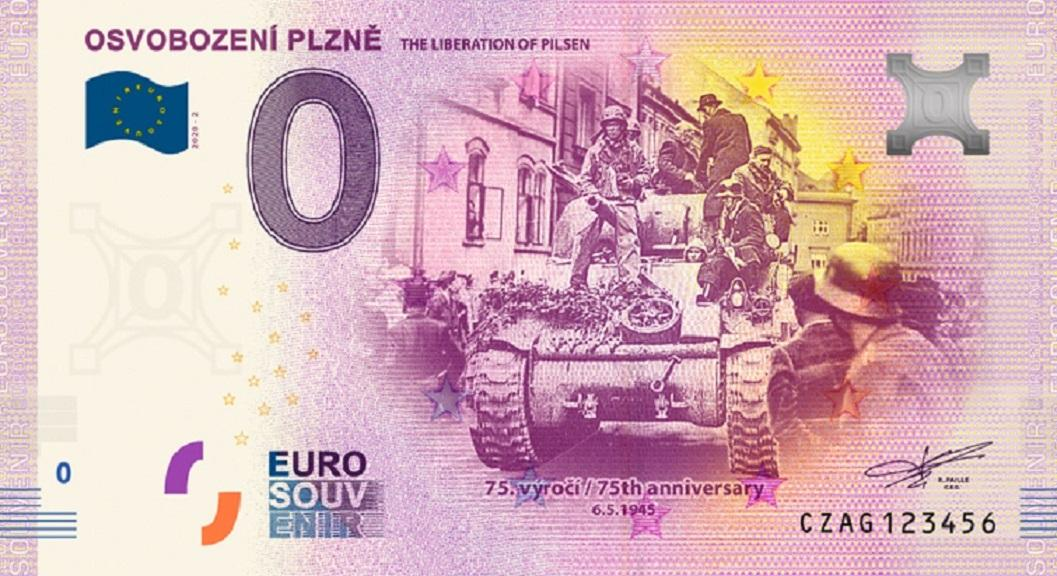 Pamětní bankovka k 75. výročí osvobození Plzně