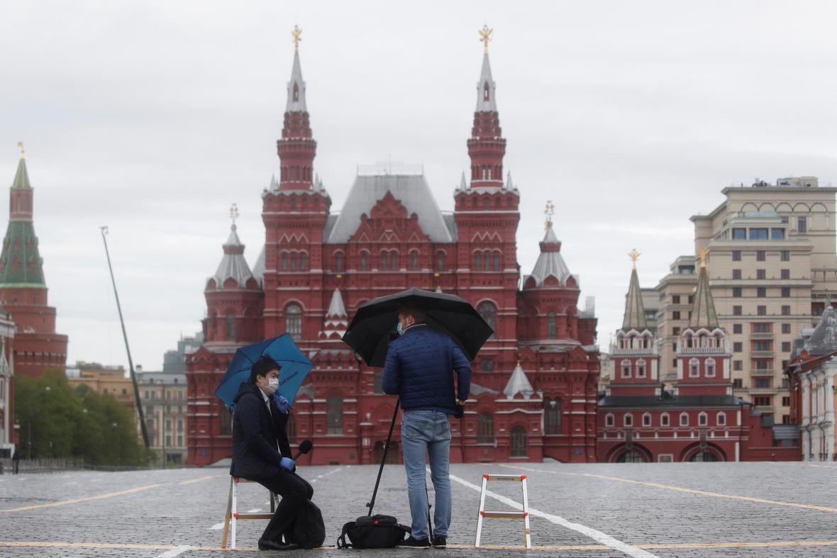 Rudé náměstí bylo při oslavách liduprázdné kvůli koronavirové pandemii