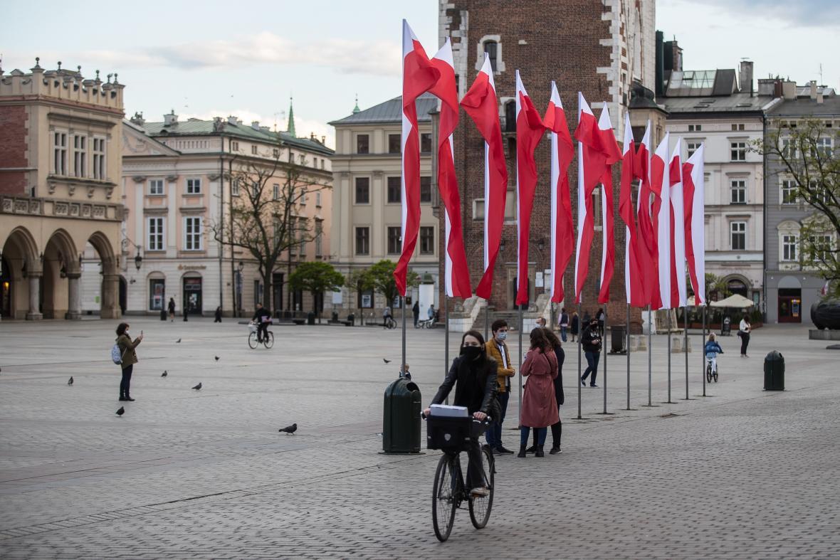 Centrum Krakova v době pandemie