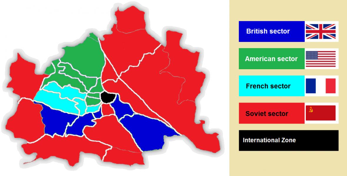 Poválečné okupační zóny Vídně