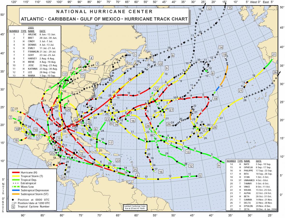 Hurikánová sezona roku 2005
