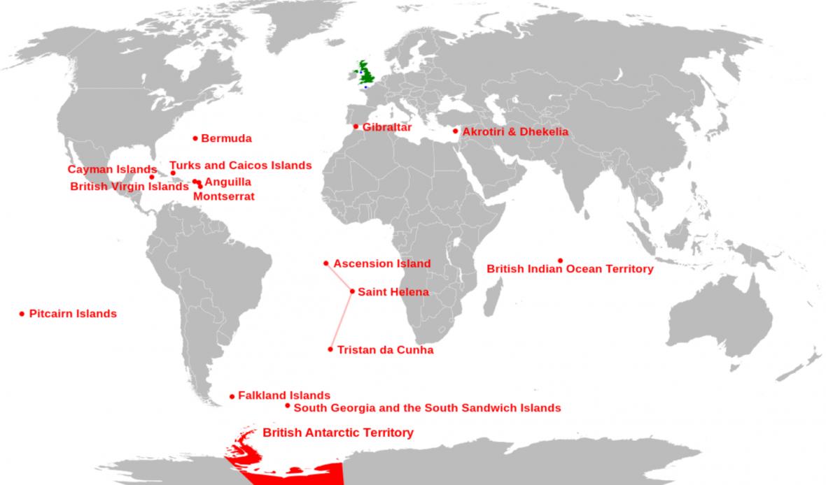 Britská území v roce 2020