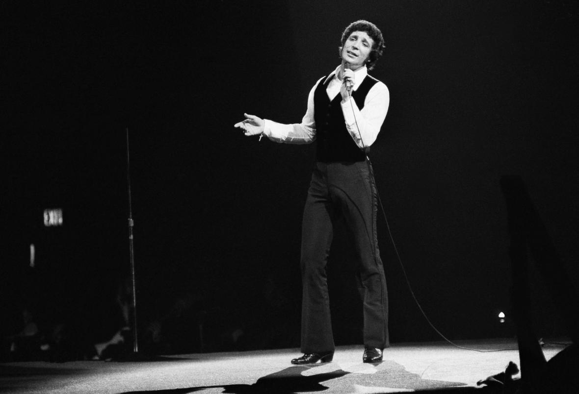 Tom Jones v Madison Square Garden v New Yorku 12. června 1970.