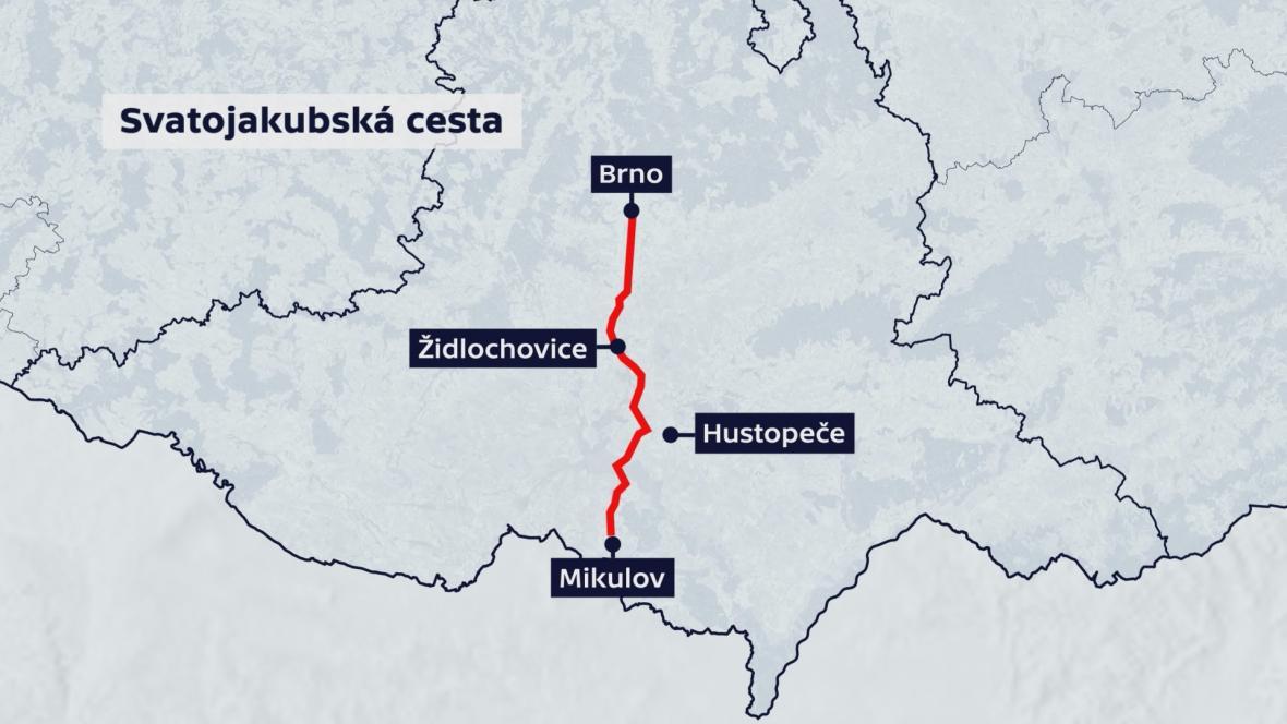 Jihomoravská část Svatojakubské cesty