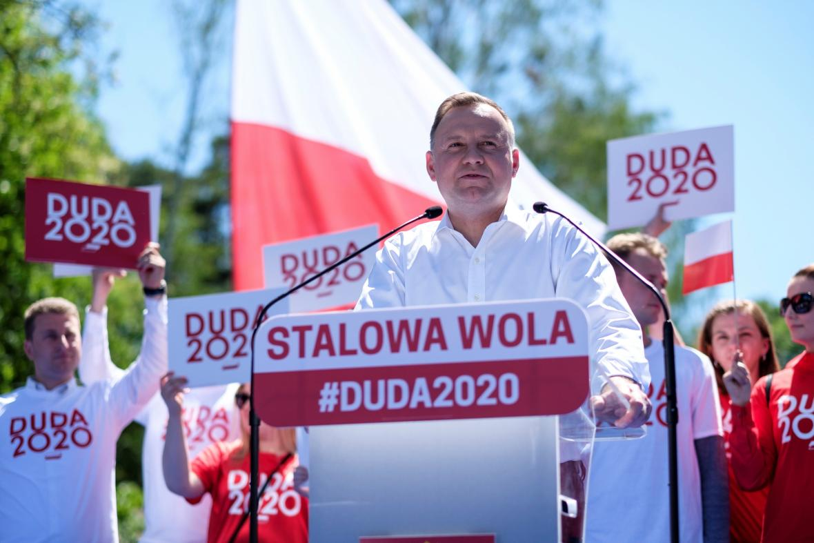 Andrzej Duda během kampaně