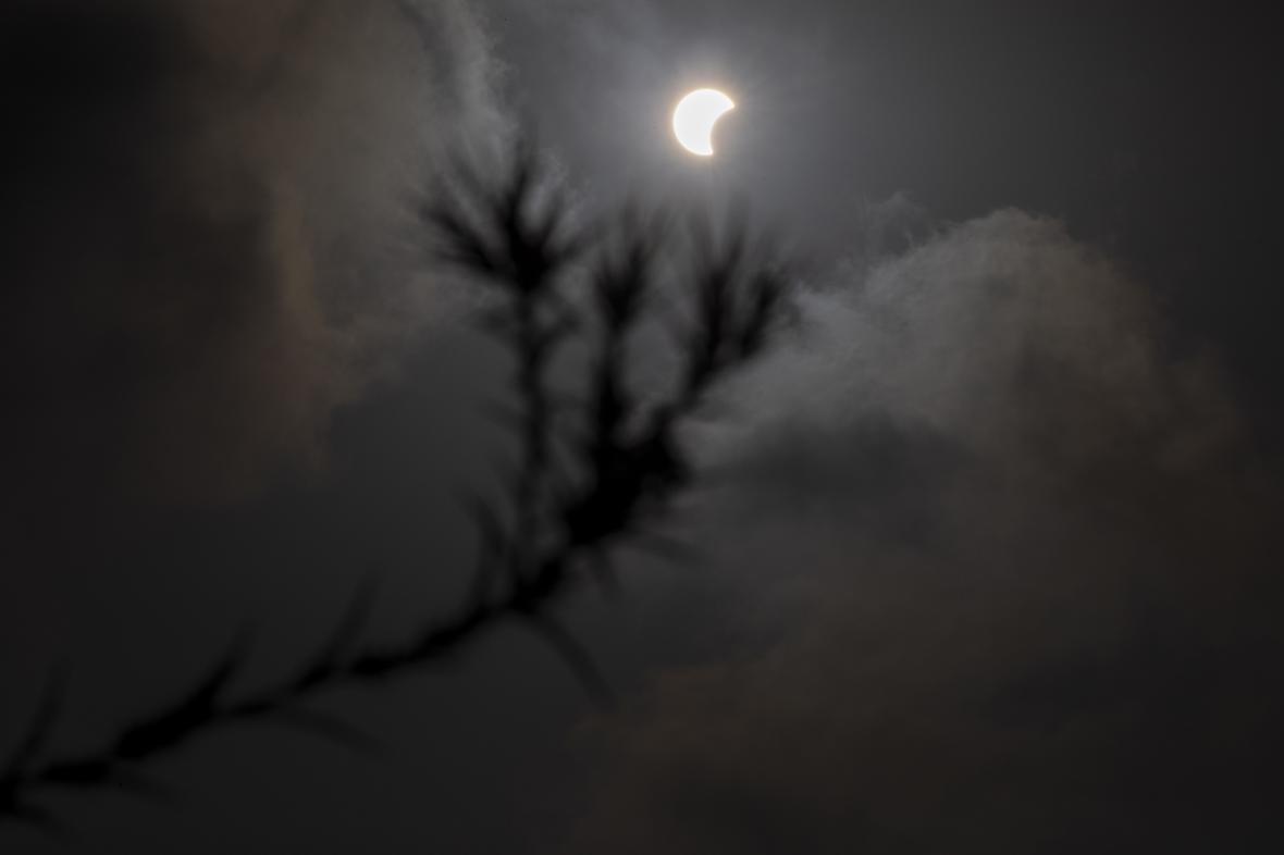 Částečné zatmění Slunce viditelné v Izraeli
