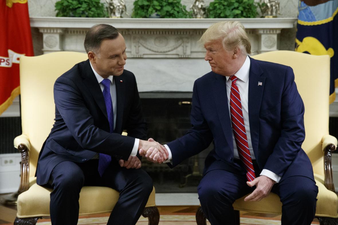 Polský prezident na předchozí návštěve Bílého domu