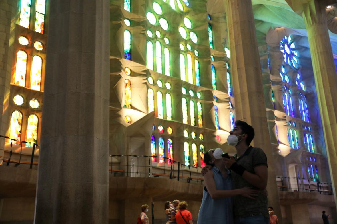 Sagrada Famílie byla otevřená jen pro zdravotníky a policisty