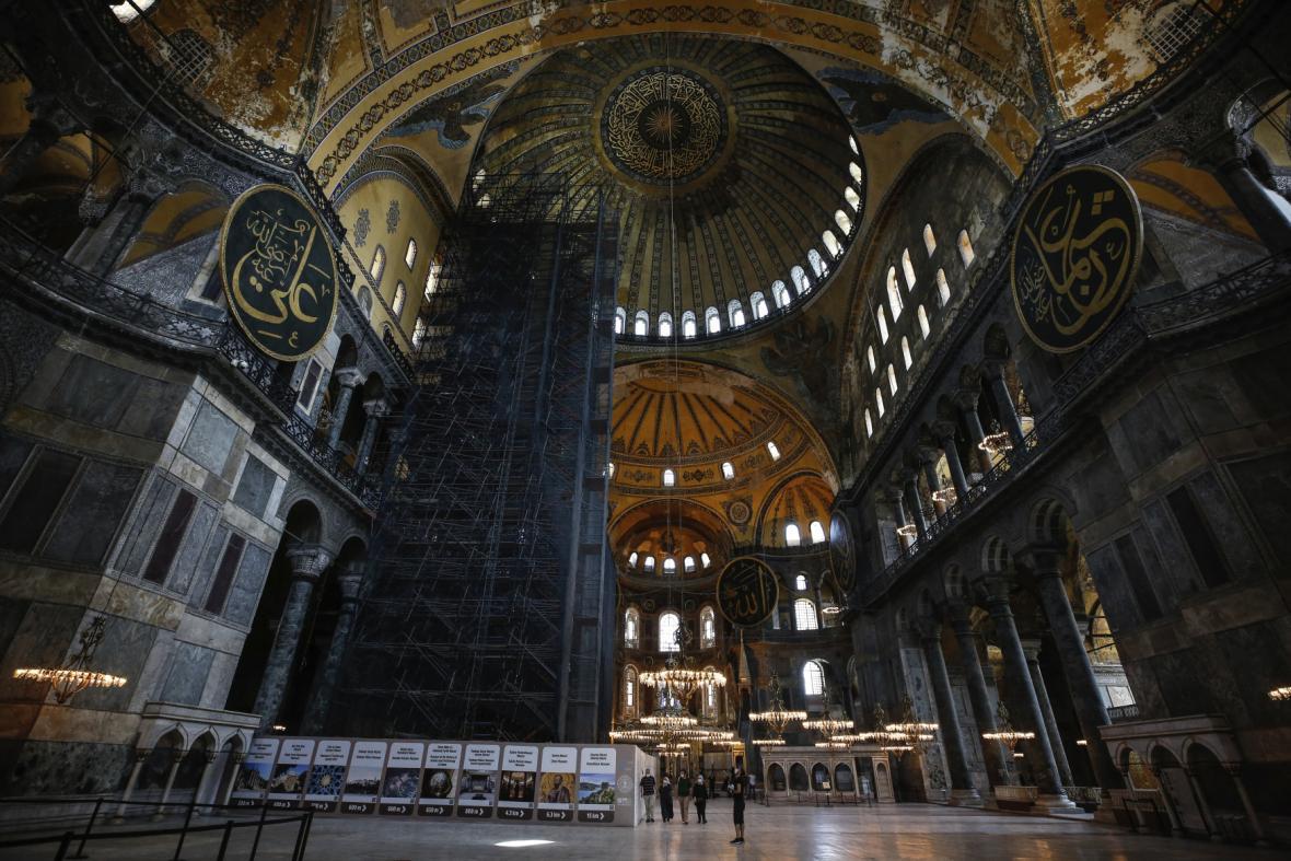 Hagia Sophia zevnitř