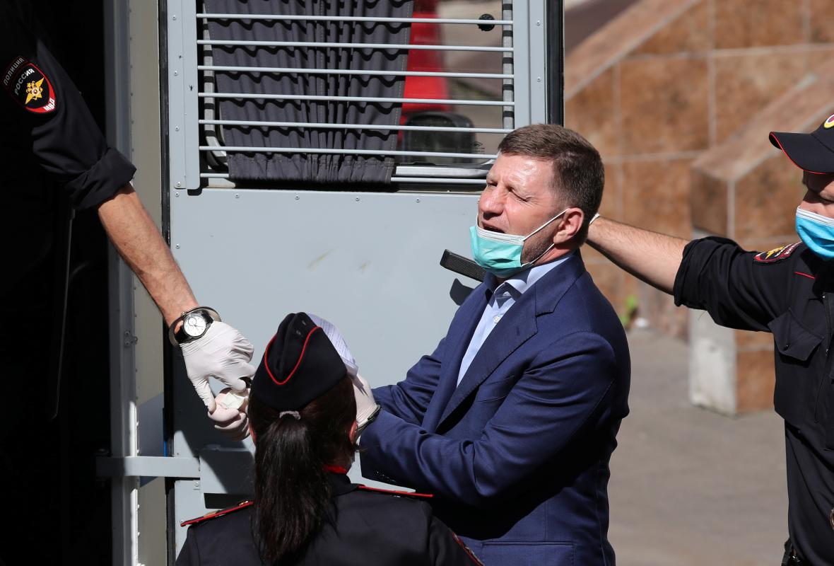 Sergej Furgal u policejního antonu