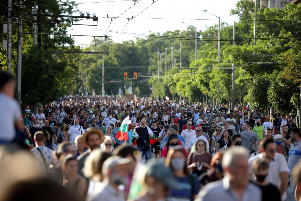 Protivládní protest v Sofii