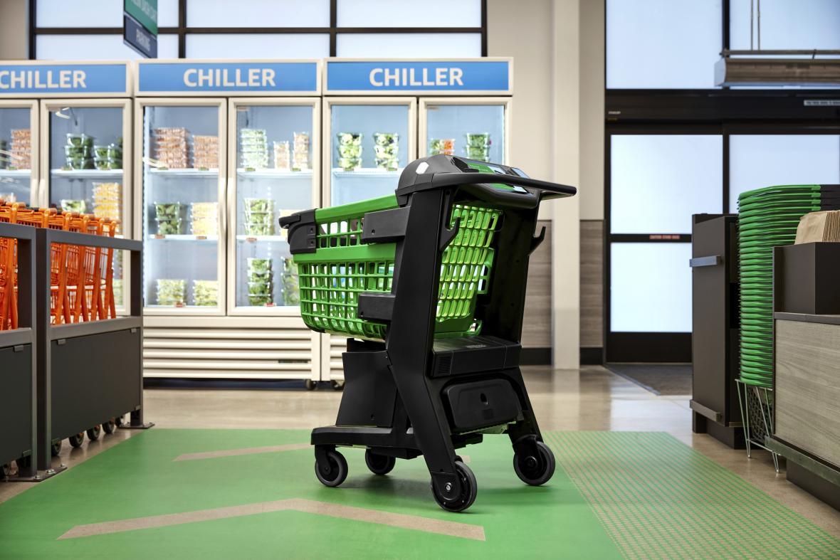 Chytrý nákupní košík firmy Amazon. Pozná, co člověk nakupuje