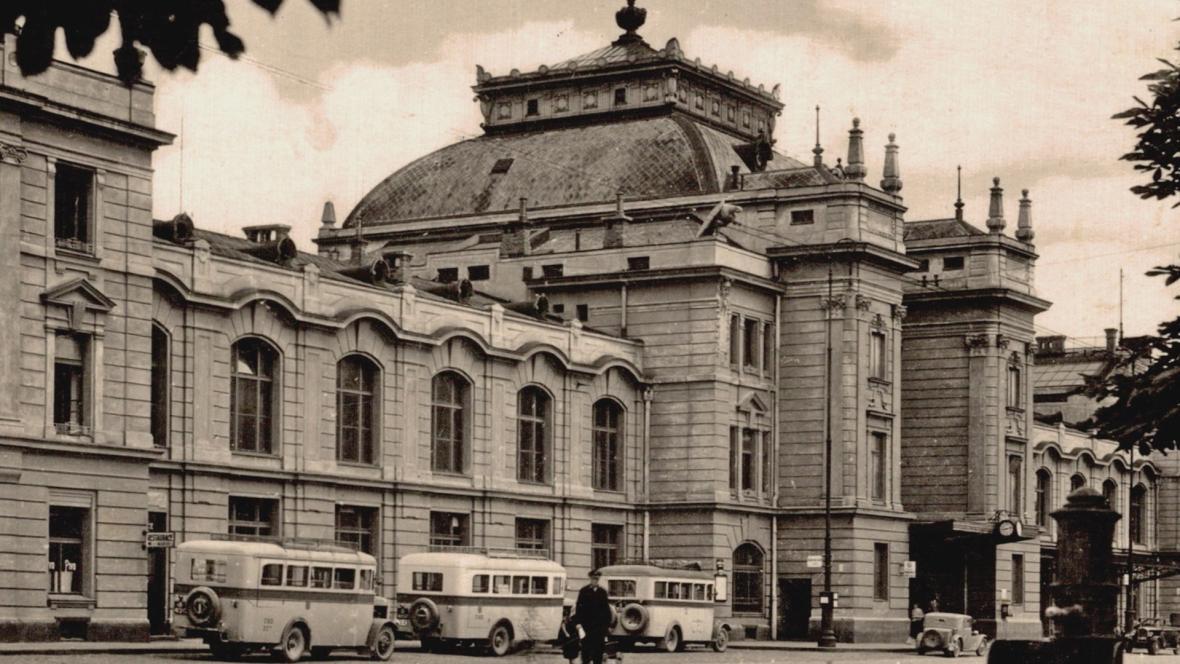 Českobudějovické nádraží ve 30. letech