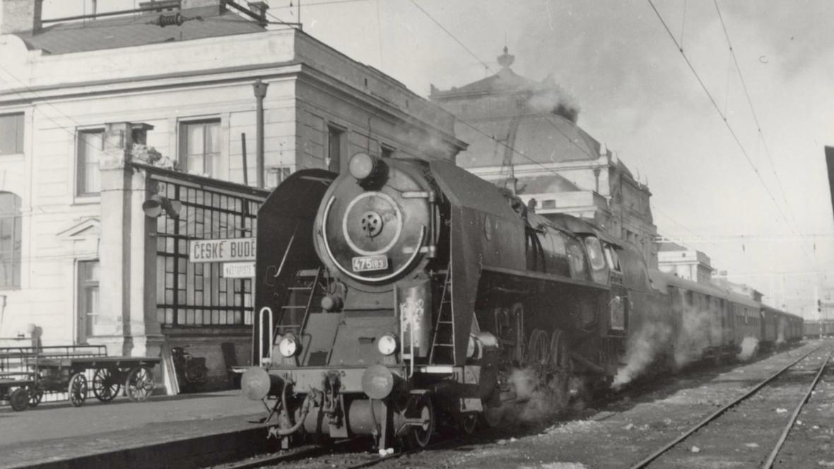 Českobudějovické nádraží v 60. letech