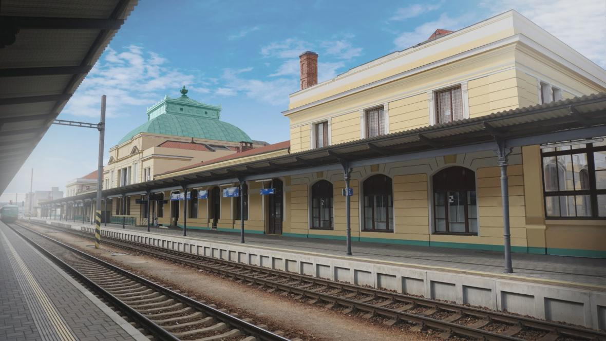 Vizualizace nádraží po rekonstrukci