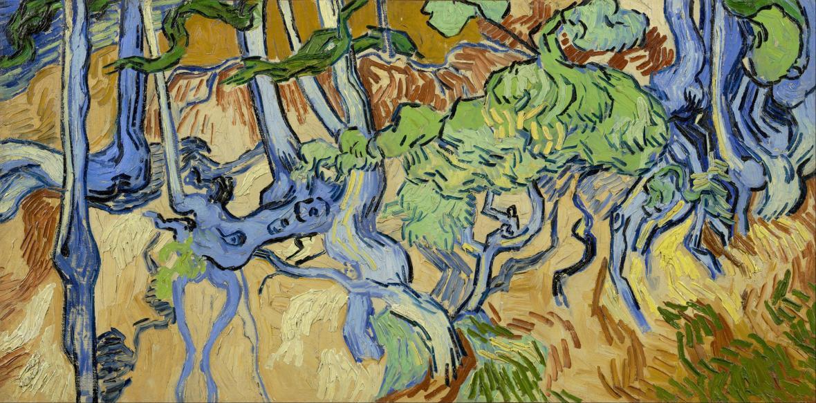 Vincent van Gogh / Kořeny stromu, 1890