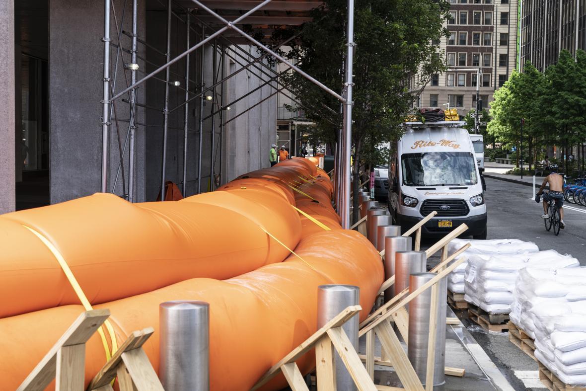 Protipovodňové bariéry na Manhattanu