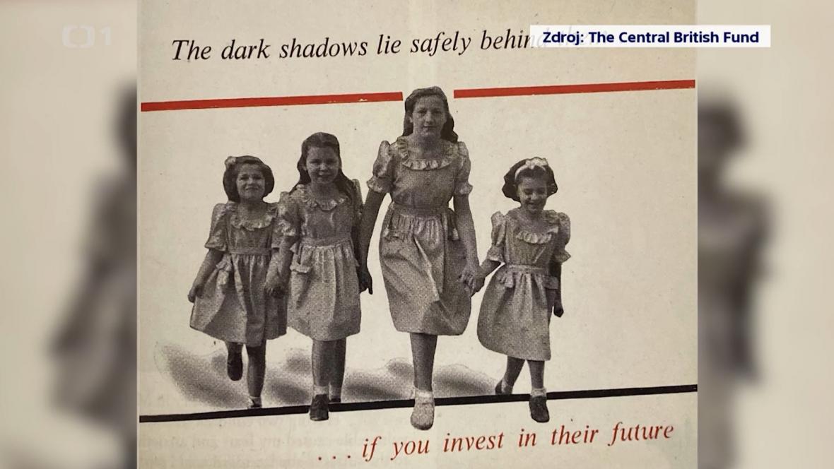 Plakát na pomoc dětským obětem