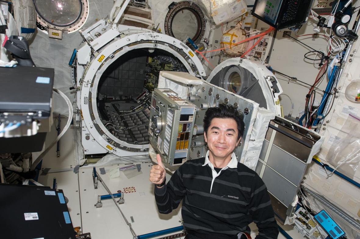Výzkum bakterií na ISS