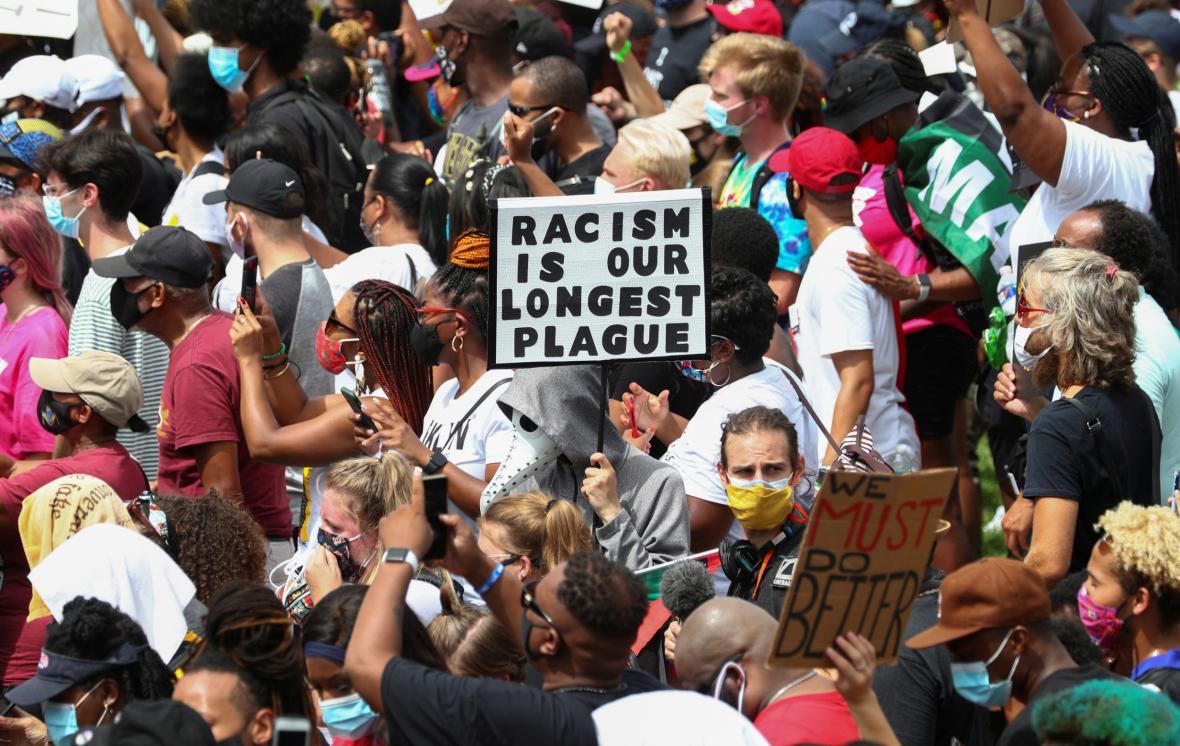 Protest proti rasismu ve Washingtonu